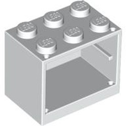White Container, Cupboard 2 x 3 x 2 - Solid Studs - used