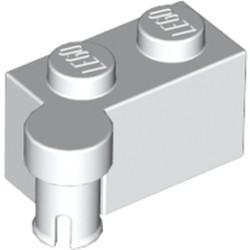 White Hinge Brick 1 x 4 Swivel Top - used