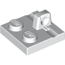 White Hinge Plate 2 x 2 Locking with 1 Finger on Top
