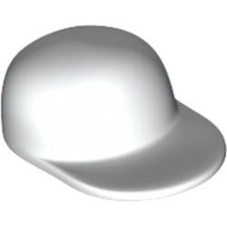 White Minifigure, Headgear Cap - Long Flat Bill