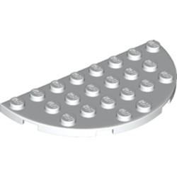 White Plate, Round Half 4 x 8 - new