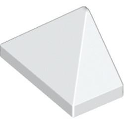 White Slope 45 2 x 1 Triple with Bottom Stud Holder