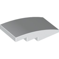 White Slope, Curved 4 x 2
