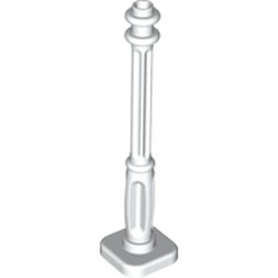 White Support 2 x 2 x 7 Lamp Post, 4 Base Flutes
