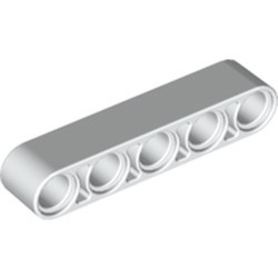 White Technic, Liftarm 1 x 5 Thick - new