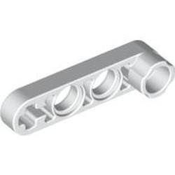 White Technic, Liftarm, Modified Stud Connector Thin 1 x 4