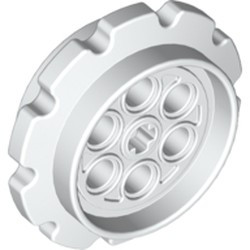 White Technic Tread Sprocket Wheel Large - used
