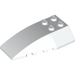 White Wedge 6 x 4 Triple Curved - new