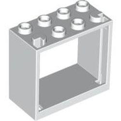 White Window 2 x 4 x 3 Frame - Hollow Studs