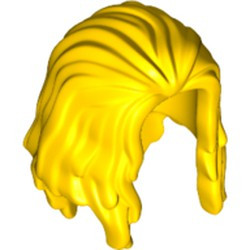 Yellow Minifigure, Hair Long, Parted in Front - new