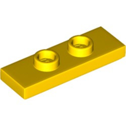 Yellow Plate, Modified 1 x 3 with 2 Studs (Double Jumper) - new
