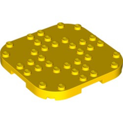 Yellow Plate, Modified 8 x 8 with Rounded Corners and 4 Feet