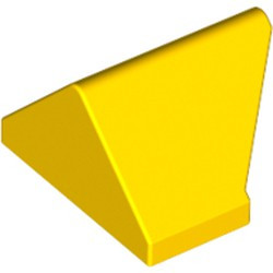 Yellow Slope 45 2 x 1 Double / Inverted - with Bottom Stud Holder - used