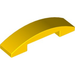 Yellow Slope, Curved 4 x 1 Double