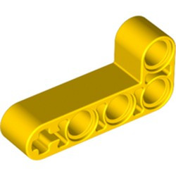 Yellow Technic, Liftarm, Modified Bent Thick L-Shape 2 x 4