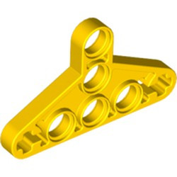 Yellow Technic, Liftarm Triangle Thin - used
