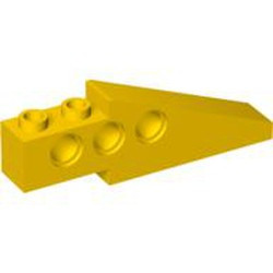 Yellow Technic Slope 33 6 x 1 x 1 2/3 Long (Wing Back) - used