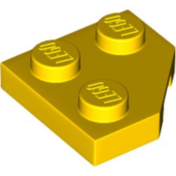 Yellow Wedge, Plate 2 x 2 Cut Corner - new