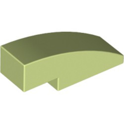 Yellowish Green Slope, Curved 3 x 1 - used