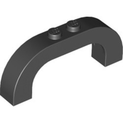 Black Arch 1 x 6 x 2 Curved Top
