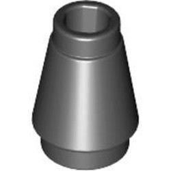 Black Cone 1 x 1 with Top Groove