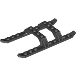 Black Helicopter Sled Rails 12 x 6