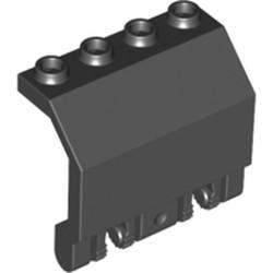 Black Panel 2 x 4 x 3 1/3 with Double Locking 2 Fingers Hinge - used