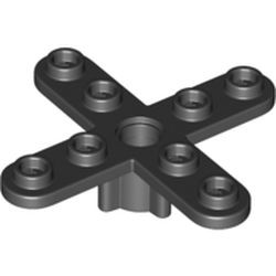 Black Propeller 4 Blade 5 Diameter with Rounded Ends and Closed Hub