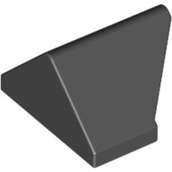 Black Slope 45 2 x 1 Double / Inverted with Bottom Stud Holder