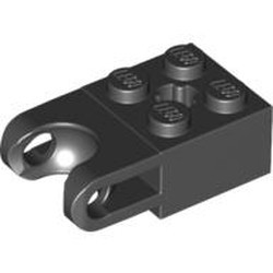 Black Technic, Brick Modified 2 x 2 with Ball Socket Wide and Axle Hole - new