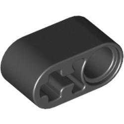 Black Technic, Liftarm Thick 1 x 2 - Axle Hole