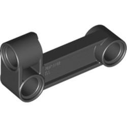 Black Technic, Pin Connector Perpendicular 2 x 4 Bent