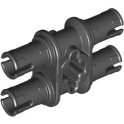 Black Technic, Pin Double with Axle Hole - used
