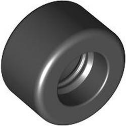 Black Tire 14mm D. x 9mm Smooth Small Wide Slick