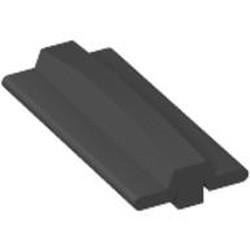 Black Tread Large, Technic with 34 Treads - used