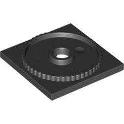 Black Turntable 4 x 4 Square Base, Locking