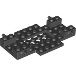 Black Vehicle, Base 6 x 10 x 1 with 2 x 4 Recessed Center and 2 Holes - new