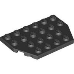 Black Wedge, Plate 4 x 6 Cut Corners - used