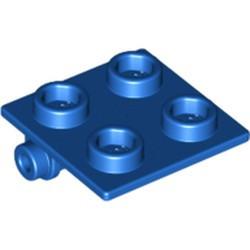 Blue Hinge Brick 2 x 2 Top Plate - used