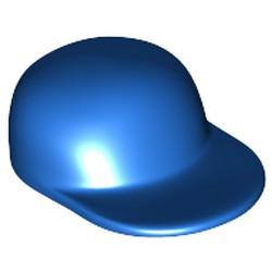 Blue Minifigure, Headgear Cap - Long Flat Bill - used