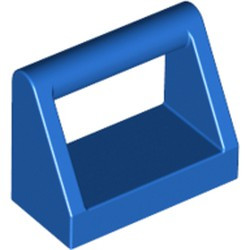 Blue Tile, Modified 1 x 2 with Bar Handle - new