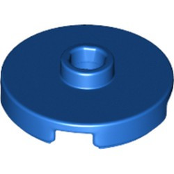 Blue Tile, Round 2 x 2 with Open Stud