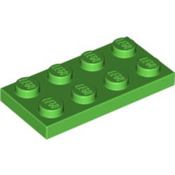 Bright Green Plate 2 x 4