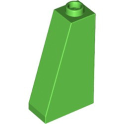 Bright Green Slope 75 2 x 1 x 3 - Hollow Stud - used