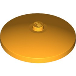 Bright Light Orange Dish 4 x 4 Inverted (Radar) with Solid Stud - used