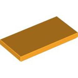 Bright Light Orange Tile 2 x 4 - used