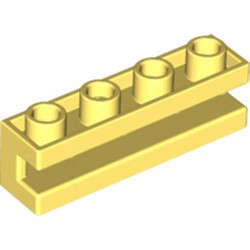 Bright Light Yellow Brick, Modified 1 x 4 with Groove