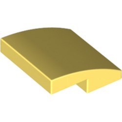 Bright Light Yellow Slope, Curved 2 x 2 - new