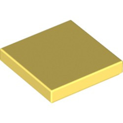 Bright Light Yellow Tile 2 x 2 with Groove