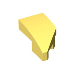Bright Light Yellow Wedge 2 x 1 x 2/3 with Stud Notch Left